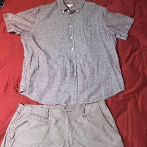 Merona matching short sleeve and shorts